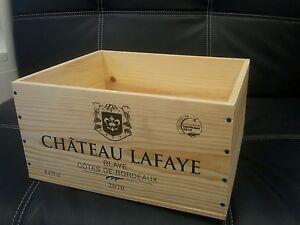** 1 Français Bouteille Vin En Bois Véritable Caisse Boîte Planteur Entraver Stockage **-afficher Le Titre D'origine