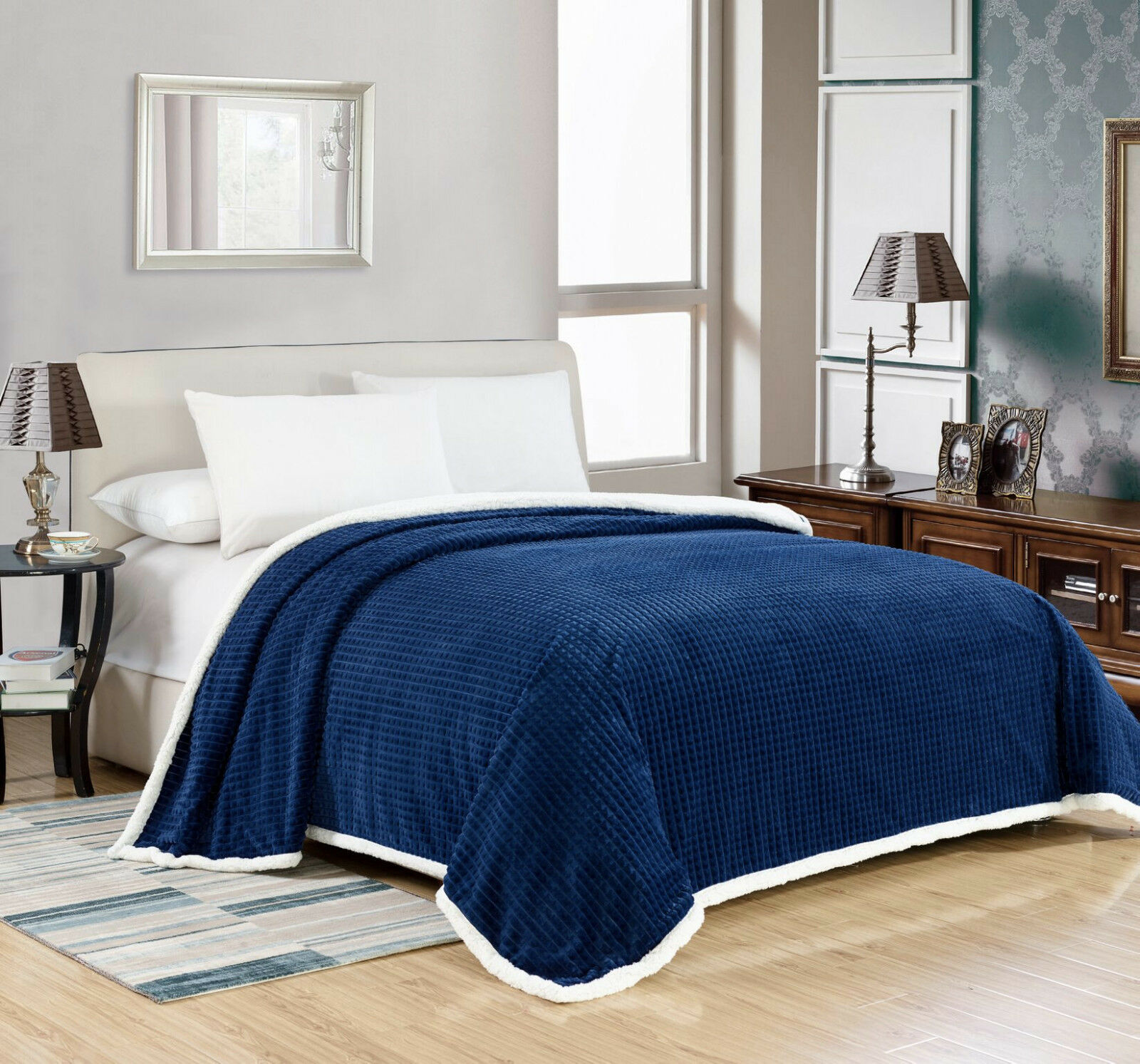 Oversized Premium Plush Sherpa Blanket Covers - Assorted Colors & Sizes