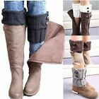 US Seller Women Winter Leg Warmers Button Crochet Knit Boot Socks Toppers Cuffs