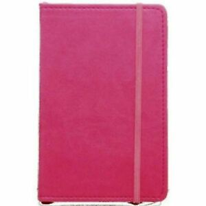 Italian-Leatherette-Journal-C-R-Gibson-Markings-Pink-Diary-Book-SKETCH-Pages