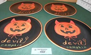 4 Pottery Barn Kids Melamine Plates Halloween Theme