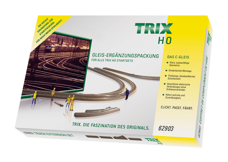 Trix h0 62903 C-BINARIO-complemento confezione c3 Fiera PREZZO 18 pezzi Merce Nuova