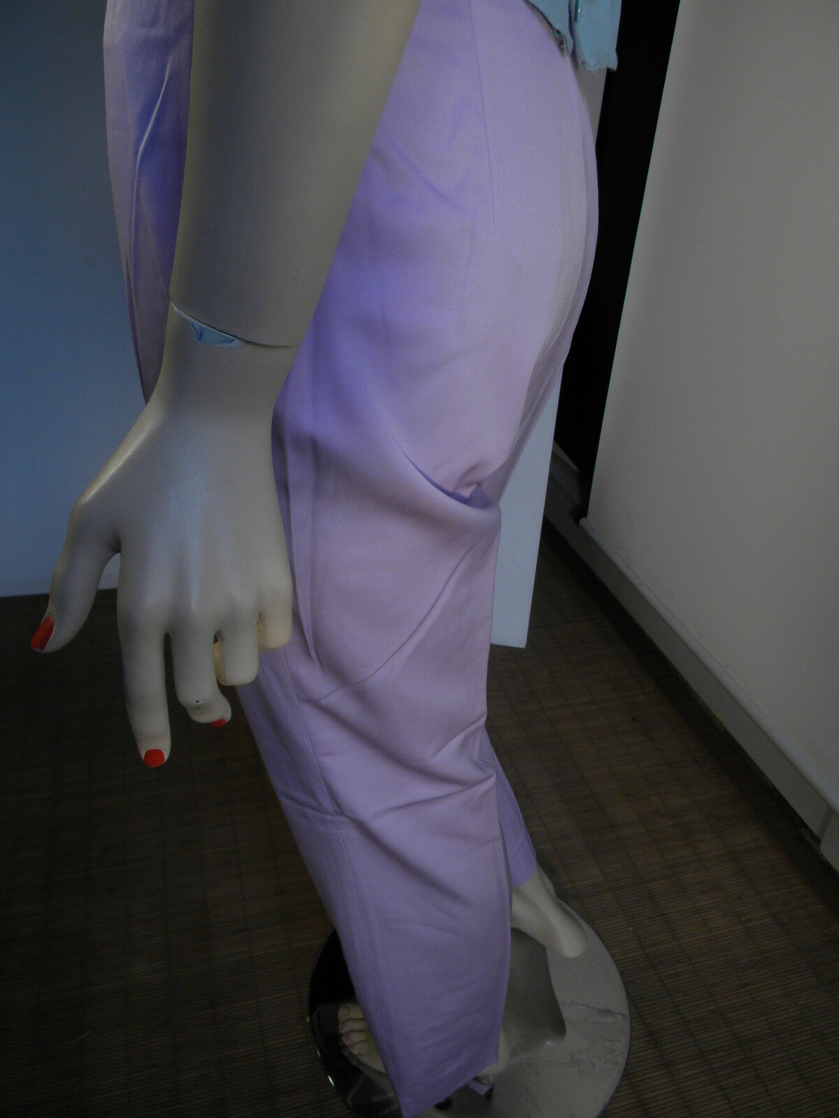ESCADA SUBLIME PANTALON LAINE MAUVE T  38 PROVENANT D'UN DEFILE DE MODE RARE