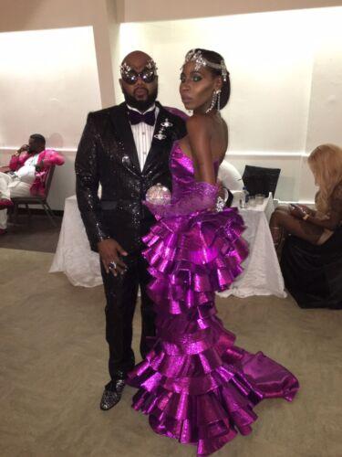bruiloft Lame jurk gelaagde jurk Paarse Prom O0wnPk