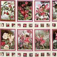 Apple Blossom (pink) Flower Fairy Complete Panel Includes All 12 Panels In Coll