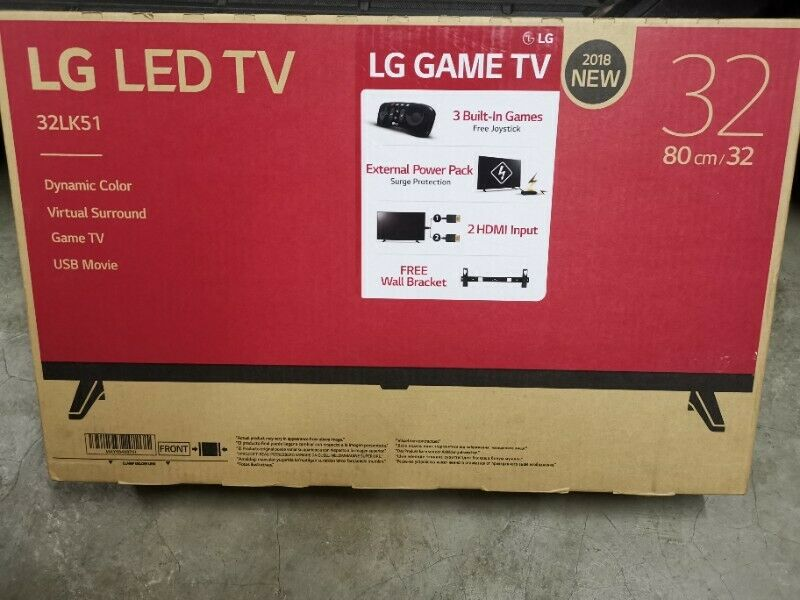 Brand New LG 32Inch Game LED TV - 3 Games - Gaming remote + Wall bracket