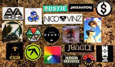 Huge 25+ EDM/Dance/Pop Stickers Lot! APHEX TWIN XX BOARDS OF CANADA ZEDD GUETTA