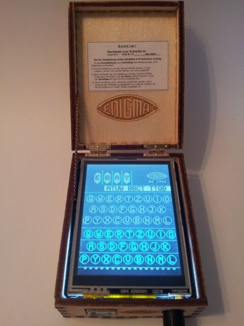 Assembled Arduino Enigma Machine Simulator:I,M3,M4,Uhr and Printer S/N Had0001