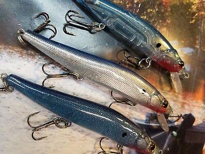 CUSTOM PAINTED MEGA BIGBASS JERKBAIT FISHING LURES HOLOGRAPHIC HOT  FALL COLORS