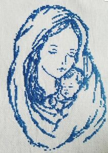 Saint-Mary-Mother-Jesus-Christ-Handmade-Picture-Finished-Cross-Stitch-gift-art