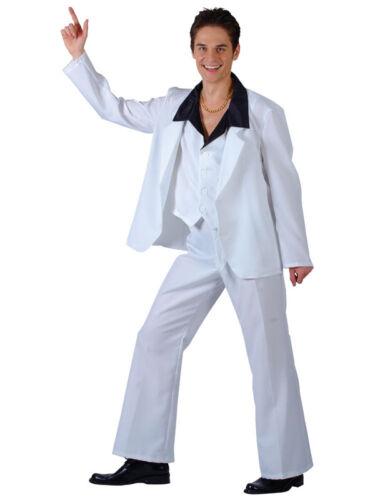 70s Disco Suit White Saturday Night Fever John Travolta Fancy Dress Outfit