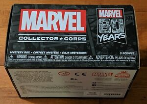 FUNKO POP MARVEL COLLECTOR CORPS 80TH ANNIVERSARY BOX XL NEW SEALED