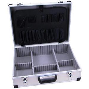 aluminium koffer ohne werkzeug alukoffer werkzeugkoffer werkzeugkiste alu box ebay. Black Bedroom Furniture Sets. Home Design Ideas