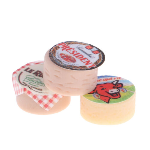 3Pcs 1//12 DollHouse Miniature Funiture Kitchen LivingRoom Decor Mini Cheese
