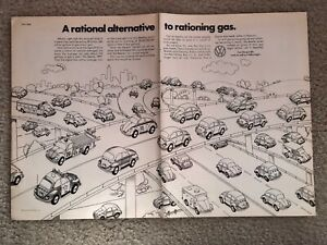 1973-VW-Beetle-Nation-2-Page-Print-Ad-Rational-Alternative-to-Rationing-Gas