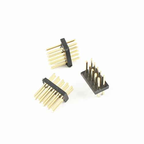 50 Pcs Gold Plated 1.27mm Pitch Male 2x5 Pin 10 Pin Straight Pin Header Strip