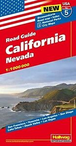 USA California Road Guide New Map Book Hallwag 9783828307568  eBay