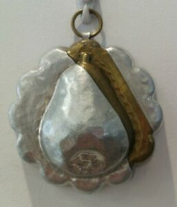 Vintage Aliminium  Small Pie/Jelly Mould Friut Decoration. Wall Hanging Hook   e