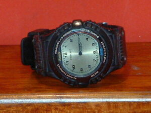 Pre-Owned-Men-s-Rare-Black-Casio-AWX-11-Twincept-Digital-Watch