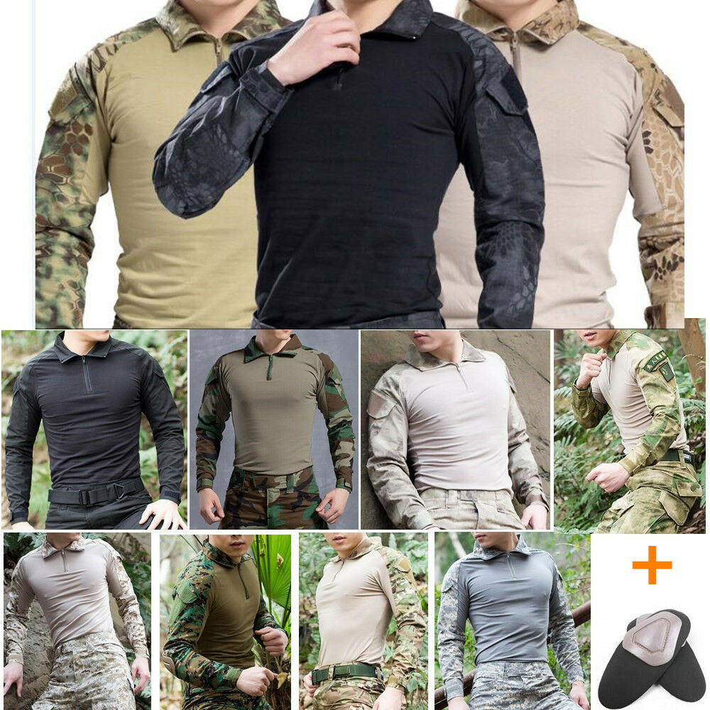 HotAirsoft Tactical Military Resistant Combat Gen3 Long Sleeve SHIRT Elbow Pad