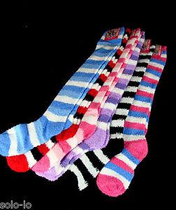 3-Pairs-Womens-Ladies-Girls-Knee-High-Knee-high-long-Bed-Socks-New