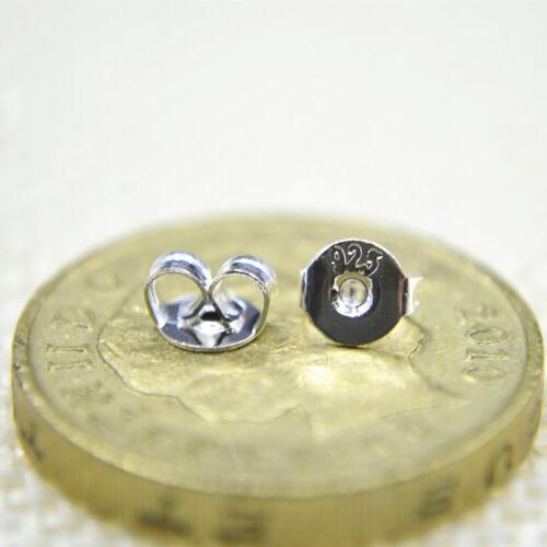 Shiny Purple Enamel Flower Solid 925 Sterling Silver Stud Earrings Gift UK