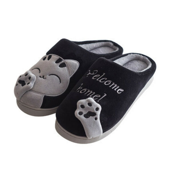 1bf64491a4c Hover to zoom · Cute Cozy Cat Paw Slippers Women Home Warm Winter Slippers  Indoor House Shoes