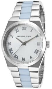 0dee44705378 Michael Kors Channing MK6150 Silver Dial Two-Tone Stainless Steel ...