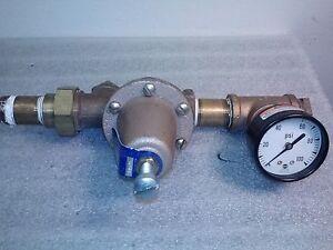 watts 25aub water pressure reducer w gauge 0 100psi ebay. Black Bedroom Furniture Sets. Home Design Ideas