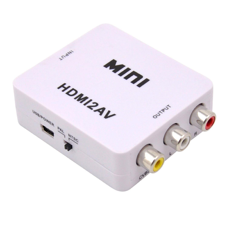 Mini HD 1080P HDMI2AV Video Converter Box Adapter HDTV ...
