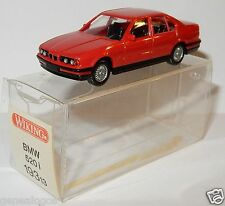 MICRO WIKING HO 1/87 BMW 520 I ROUGE in box