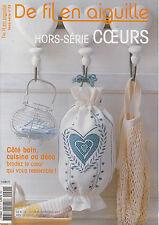De fil en aiguille N°24 HS point croix Coeurs Cuisine * Véronique Enginger