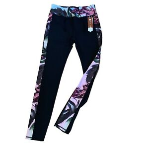 TED-Baker-Leggings-Taglia-S-Small-L-LARGE-BLU-NAVY-CON-FIORI-Fit-T-Corsa-Palestra