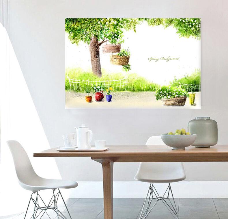 3D Cartoon bäume 523 Fototapeten Wandbild BildTapete Familie AJSTORE DE