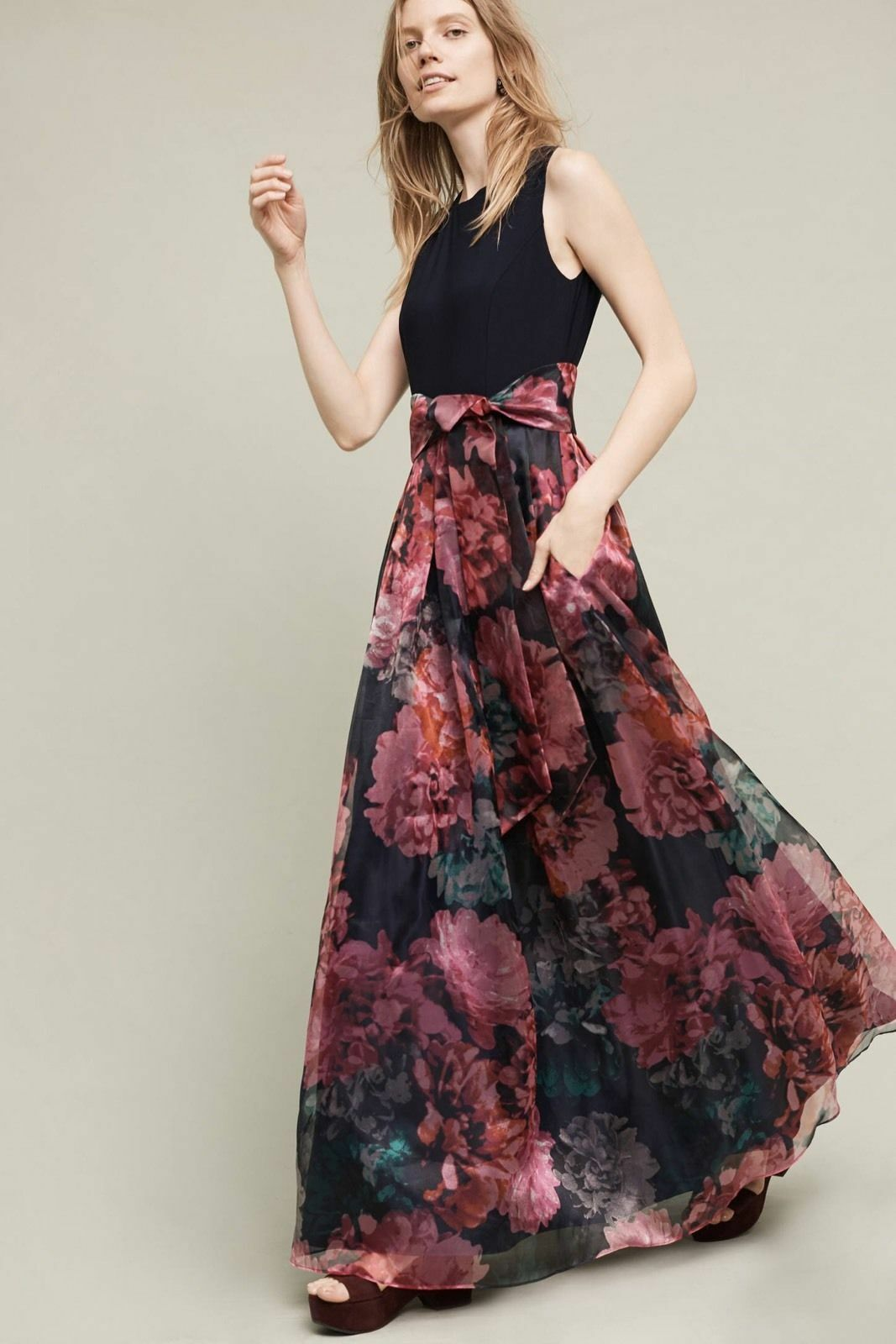 NWT SZ 4 Blooming Bow Dress By Moulinette Soeurs Maxi Gown