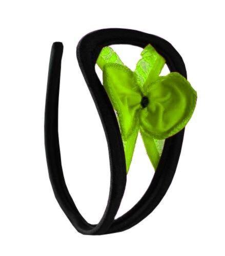 Femmes C-string vert noeud ouvert femmes lingerie taille unique s//M//L