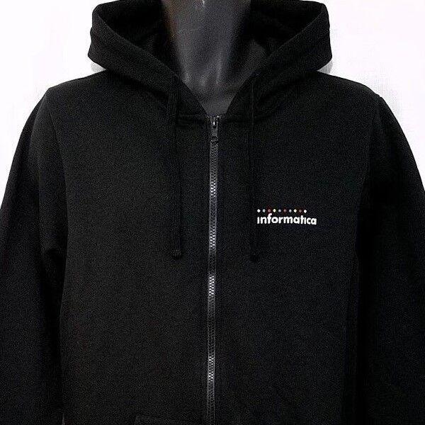 Informatica Mens Hoodie Sweatshirt Full Zip Data Management Software Size Large