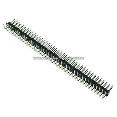 10Pcs 2.54mm 2 x 40 Pin Male Double Row Right Angle Pin Header Strip NEW