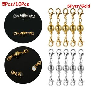 Magnetic-Clasps-Buckle-Hook-Round-Ball-For-Necklace-Bracelet-Connector
