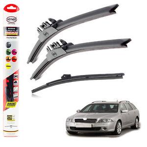 Skoda Vehicles Front Wipers 2x Flat Flex Wiper Blades