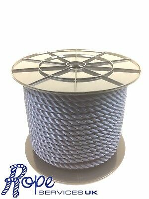 3 Strand Navy Blue Multifilament 10mm x 220m Reel Boats Yachts Floating Rope