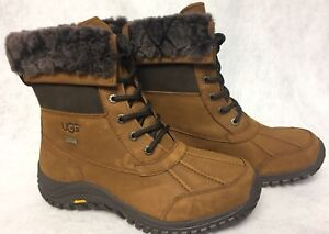 b1672fb37cd Details about Ugg Australia Adirondack II Luxe Quilt Winter Snow Chestnut  Waterproof Boots