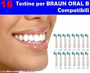 16-TESTINE-RICAMBIO-PRECISION-CLEAN-COMPATIBILI-ORAL-B-SPAZZOLINO-ELETTRICO