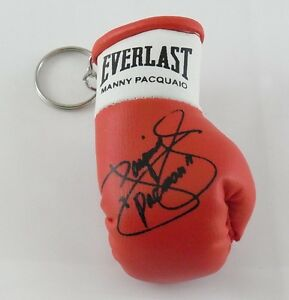 Autographed Mini Boxing Glove keyring Manny Pacquaio