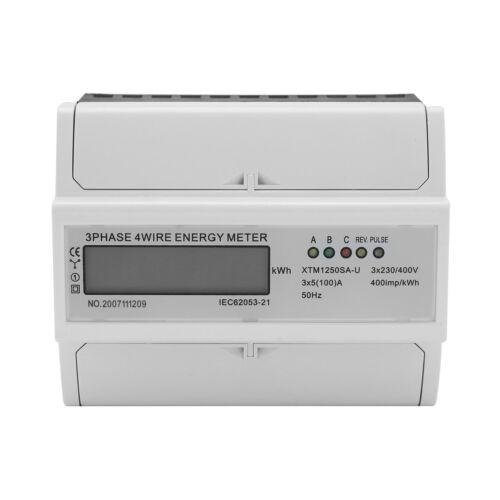 3x230//400V 5 A Stromzähler de NEU LCD Drehstromzähler geeicht Stromzähler 100