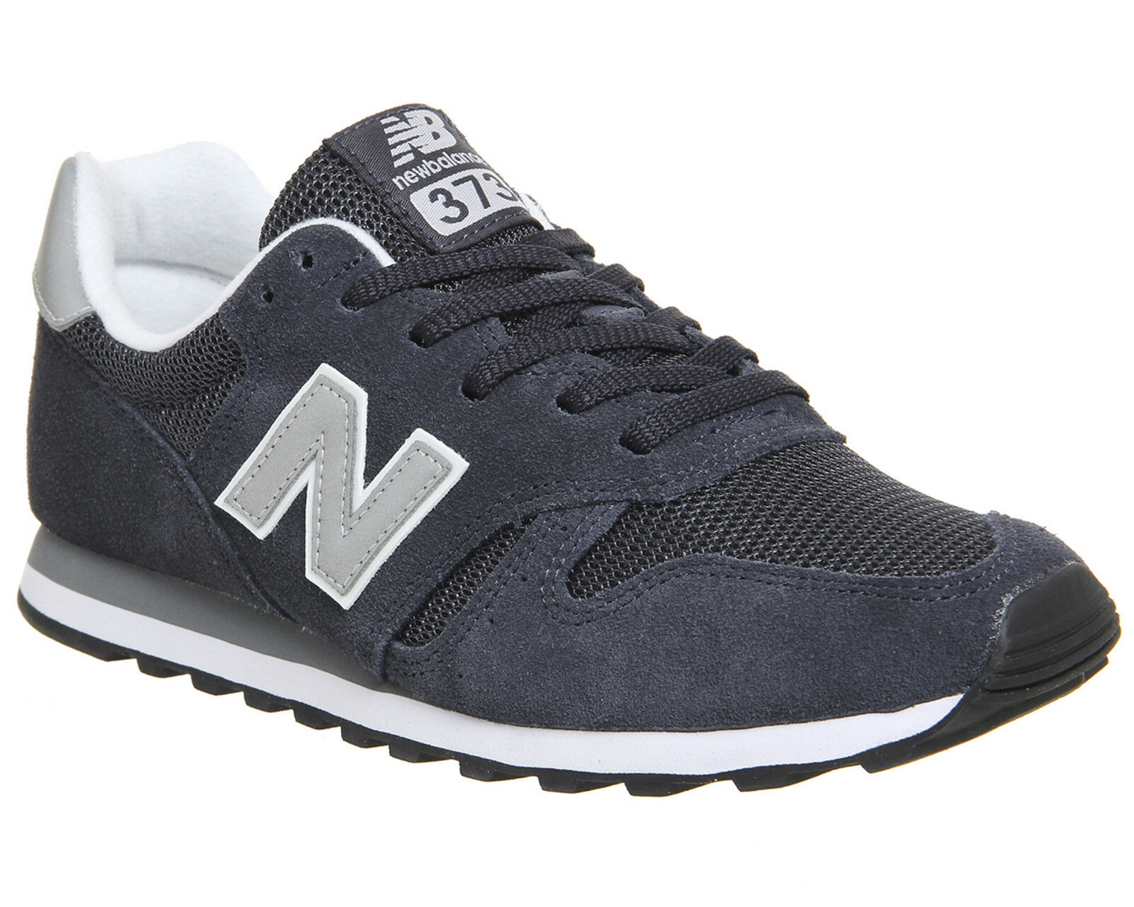 Homme New Balance 373 Navy Argent Baskets Chaussures