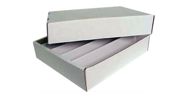 e0d3a78f430 2) 5000 Ct. 5 Row Trading Card Max Pro Cardboard Full Lid Storage ...