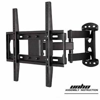 Full Motion Tv Wall Mount For 19- 55 Tvs With Tilt And Swivel Articulating Arm