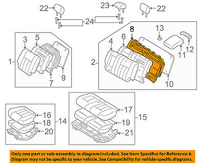 TOYOTA Genuine 71016-0C040 Seat Cushion Frame