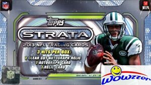 2013-Topps-Strata-Football-Factory-Sealed-HOBBY-Box-3-AUTOGRAPH-RELIC-Loaded